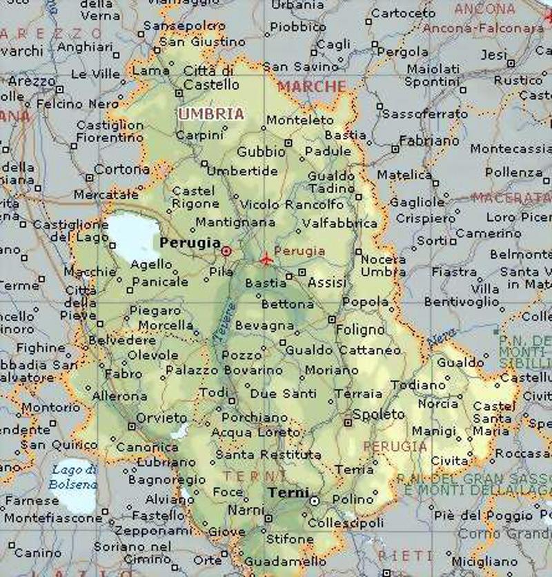 Cartina Stradale Veneto Trentino.Carta Geografica Umbriaa